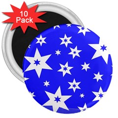 Star Background Pattern Advent 3  Magnets (10 Pack)  by Celenk
