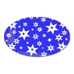 Star Background Pattern Advent Oval Magnet by Celenk