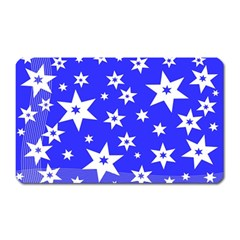 Star Background Pattern Advent Magnet (rectangular) by Celenk