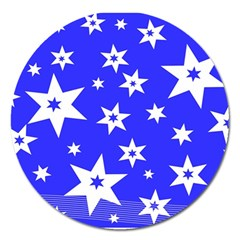 Star Background Pattern Advent Magnet 5  (round) by Celenk
