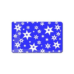 Star Background Pattern Advent Magnet (name Card) by Celenk