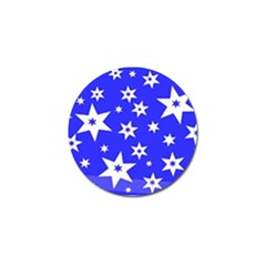 Star Background Pattern Advent Golf Ball Marker