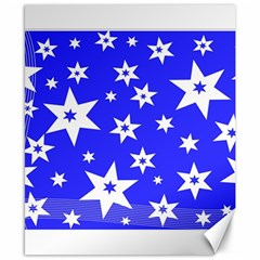 Star Background Pattern Advent Canvas 8  X 10  by Celenk