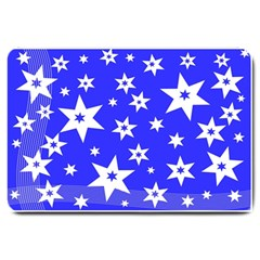 Star Background Pattern Advent Large Doormat  by Celenk