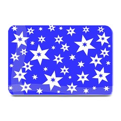 Star Background Pattern Advent Plate Mats by Celenk
