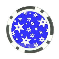 Star Background Pattern Advent Poker Chip Card Guard by Celenk
