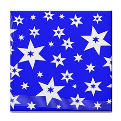 Star Background Pattern Advent Face Towel by Celenk