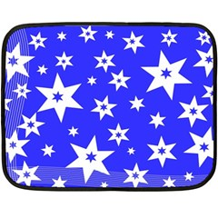 Star Background Pattern Advent Fleece Blanket (mini) by Celenk