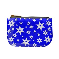 Star Background Pattern Advent Mini Coin Purses by Celenk