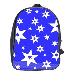 Star Background Pattern Advent School Bag (large) by Celenk