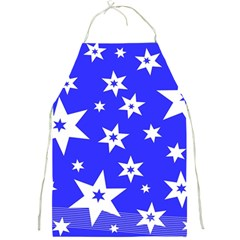 Star Background Pattern Advent Full Print Aprons by Celenk