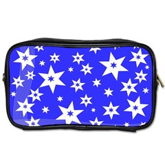 Star Background Pattern Advent Toiletries Bags by Celenk