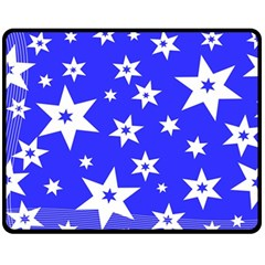 Star Background Pattern Advent Fleece Blanket (medium)  by Celenk