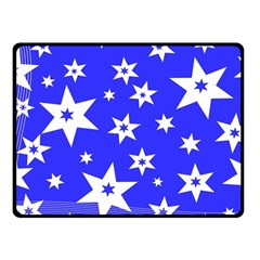 Star Background Pattern Advent Fleece Blanket (small) by Celenk