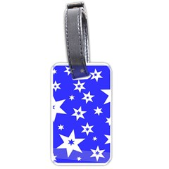 Star Background Pattern Advent Luggage Tags (two Sides) by Celenk