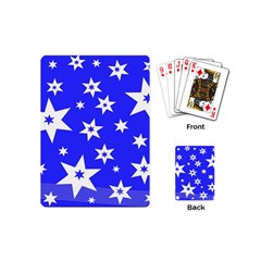 Star Background Pattern Advent Playing Cards (mini)  by Celenk