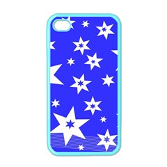 Star Background Pattern Advent Apple Iphone 4 Case (color) by Celenk