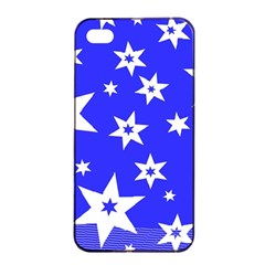 Star Background Pattern Advent Apple Iphone 4/4s Seamless Case (black) by Celenk