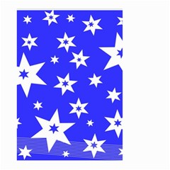Star Background Pattern Advent Small Garden Flag (two Sides) by Celenk