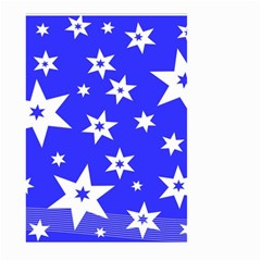 Star Background Pattern Advent Large Garden Flag (two Sides) by Celenk