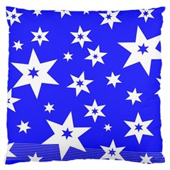 Star Background Pattern Advent Large Cushion Case (one Side) by Celenk