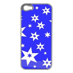 Star Background Pattern Advent Apple Iphone 5 Case (silver) by Celenk
