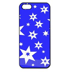 Star Background Pattern Advent Apple Iphone 5 Seamless Case (black) by Celenk