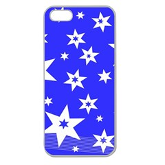 Star Background Pattern Advent Apple Seamless Iphone 5 Case (clear) by Celenk