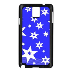 Star Background Pattern Advent Samsung Galaxy Note 3 N9005 Case (black) by Celenk