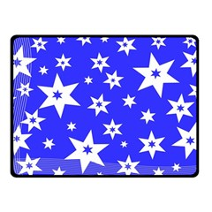 Star Background Pattern Advent Double Sided Fleece Blanket (small)  by Celenk