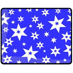 Star Background Pattern Advent Double Sided Fleece Blanket (medium)  by Celenk