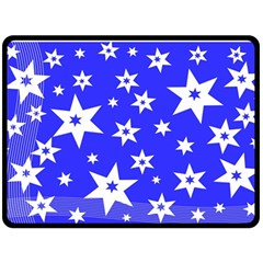 Star Background Pattern Advent Double Sided Fleece Blanket (large)  by Celenk