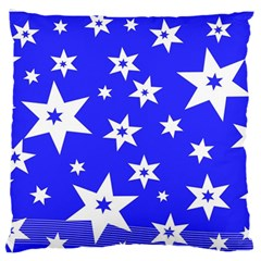 Star Background Pattern Advent Large Flano Cushion Case (one Side) by Celenk