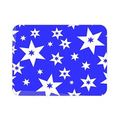Star Background Pattern Advent Double Sided Flano Blanket (mini)  by Celenk
