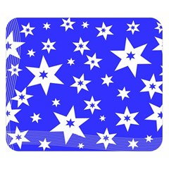 Star Background Pattern Advent Double Sided Flano Blanket (small)  by Celenk