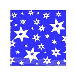 Star Background Pattern Advent Small Satin Scarf (square) by Celenk