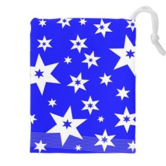 Star Background Pattern Advent Drawstring Pouches (xxl) by Celenk