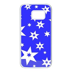 Star Background Pattern Advent Samsung Galaxy S7 White Seamless Case by Celenk