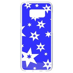 Star Background Pattern Advent Samsung Galaxy S8 White Seamless Case by Celenk
