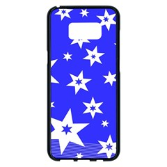 Star Background Pattern Advent Samsung Galaxy S8 Plus Black Seamless Case by Celenk