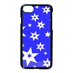 Star Background Pattern Advent Apple Iphone 8 Seamless Case (black) by Celenk