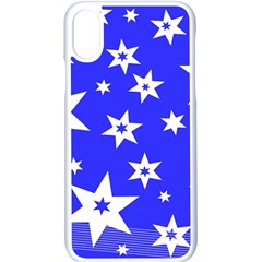 Star Background Pattern Advent Apple Iphone X Seamless Case (white) by Celenk