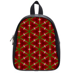 Textured Background Christmas Pattern School Bag (small)