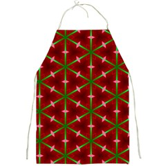 Textured Background Christmas Pattern Full Print Aprons by Celenk