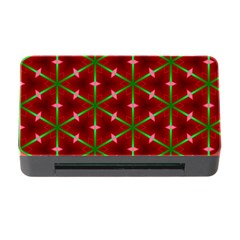 Textured Background Christmas Pattern Memory Card Reader With Cf by Celenk