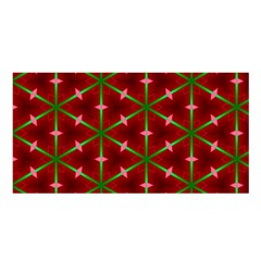 Textured Background Christmas Pattern Satin Shawl by Celenk