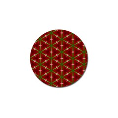Textured Background Christmas Pattern Golf Ball Marker by Celenk