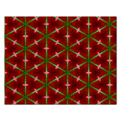 Textured Background Christmas Pattern Rectangular Jigsaw Puzzl by Celenk