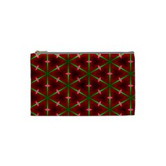 Textured Background Christmas Pattern Cosmetic Bag (small)  by Celenk