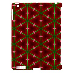 Textured Background Christmas Pattern Apple Ipad 3/4 Hardshell Case (compatible With Smart Cover) by Celenk